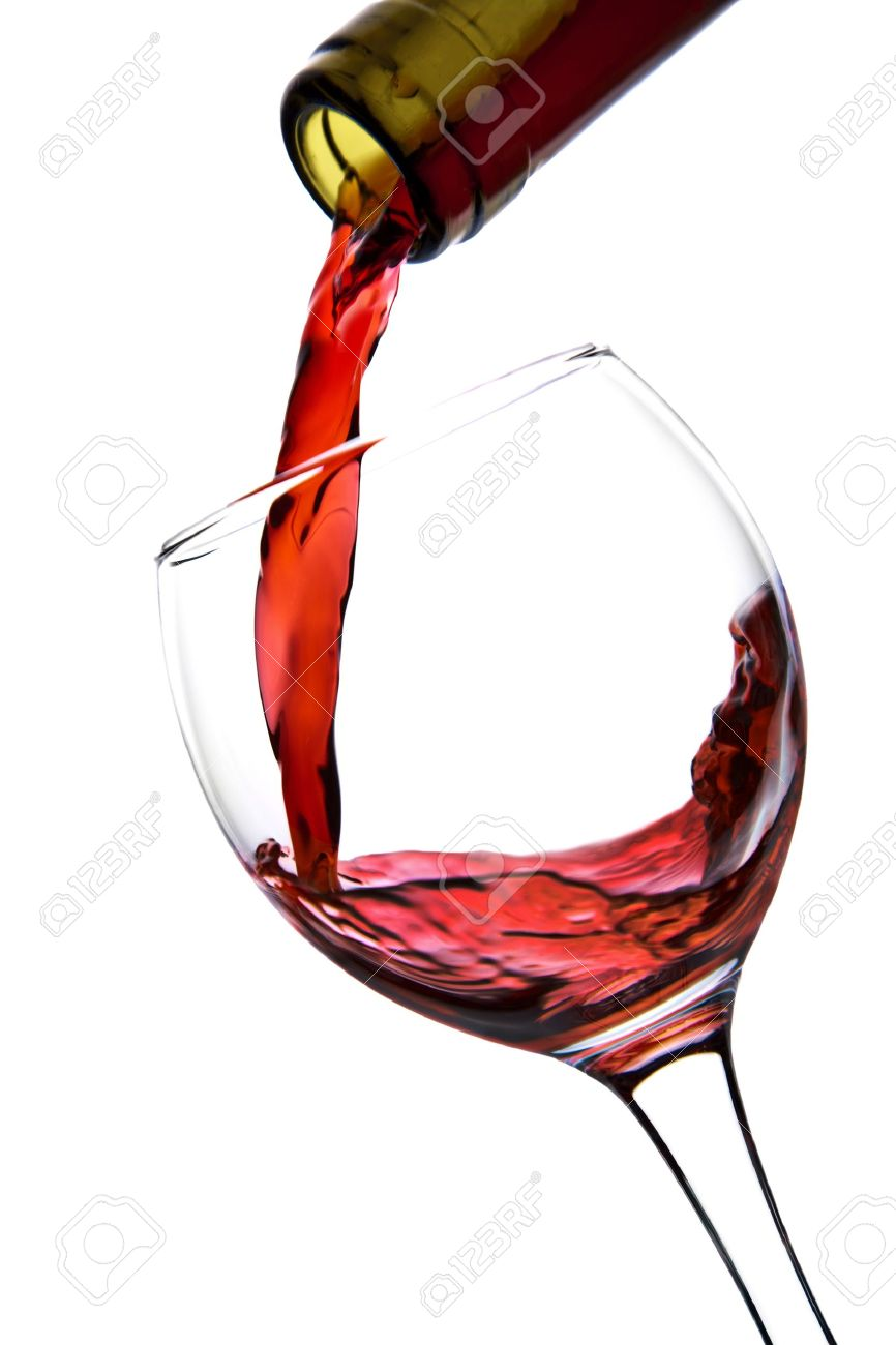 red wine pouring into glass isolated stock photo picture and