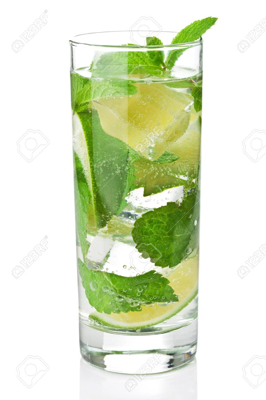fresh mojito cocktail isolated Stock Photo - 10314856