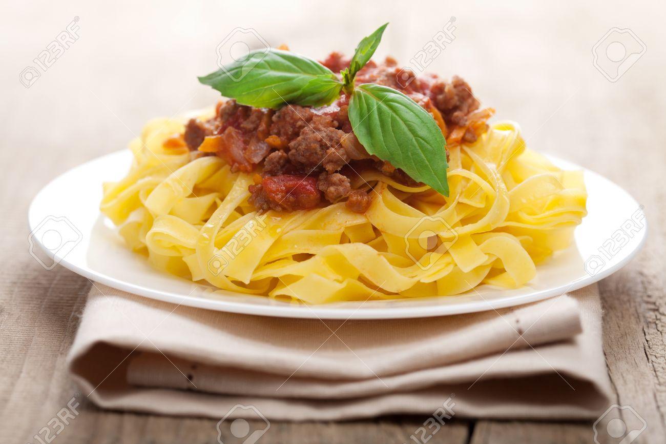 tagliatelle bolognese Stock Photo - 10512661