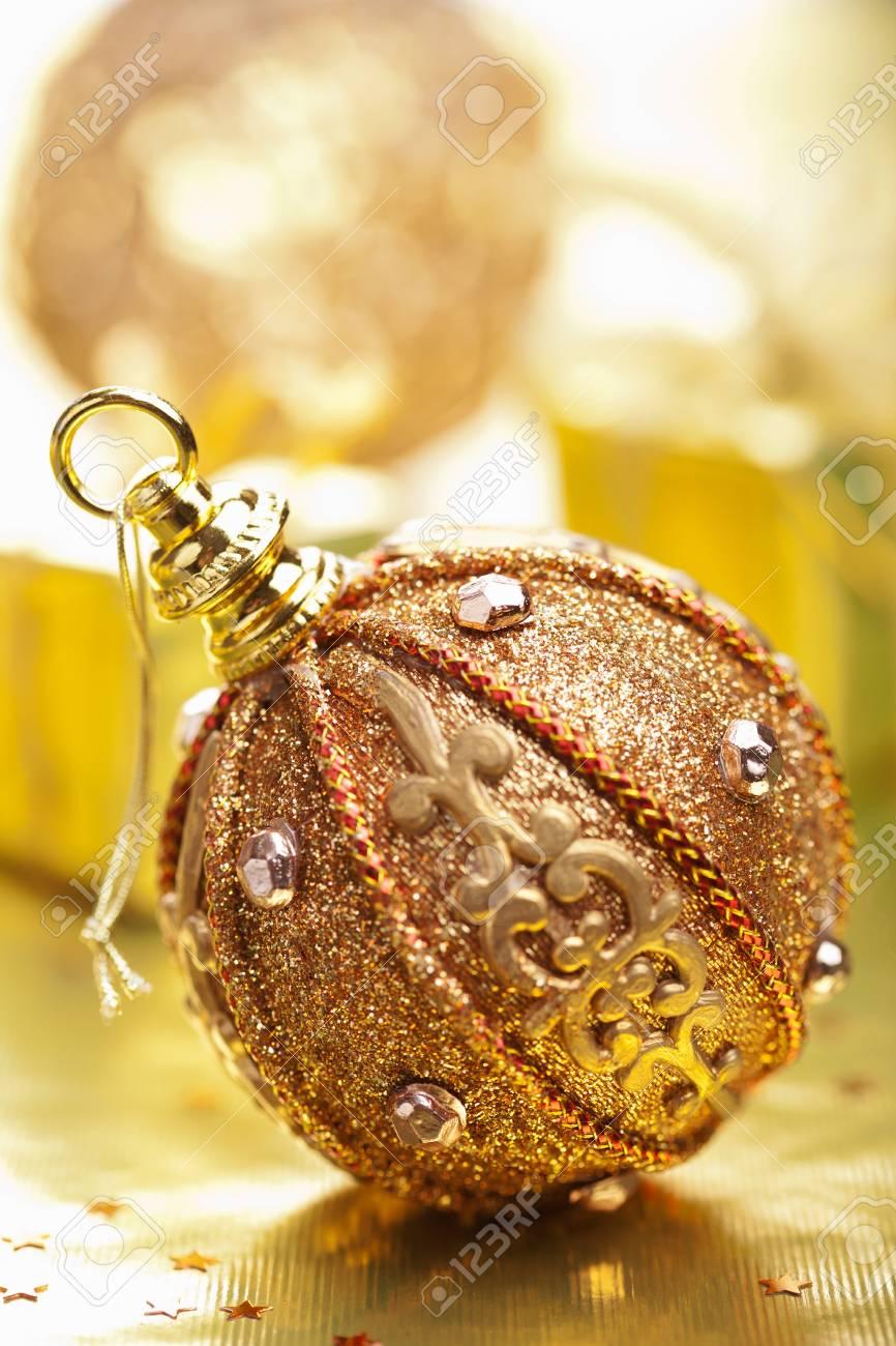 golden christmas decoration Stock Photo - 11099272