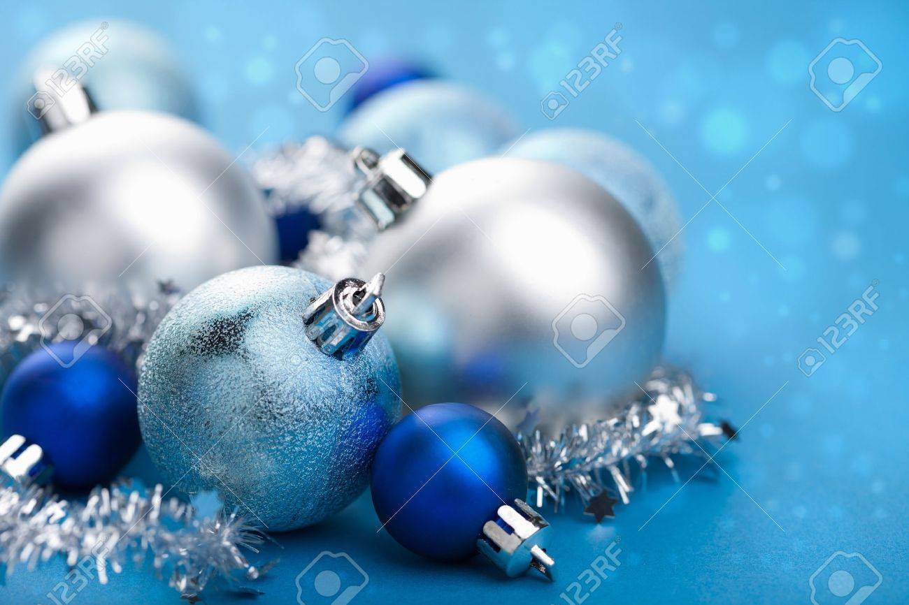 blue christmas balls Stock Photo - 11099267
