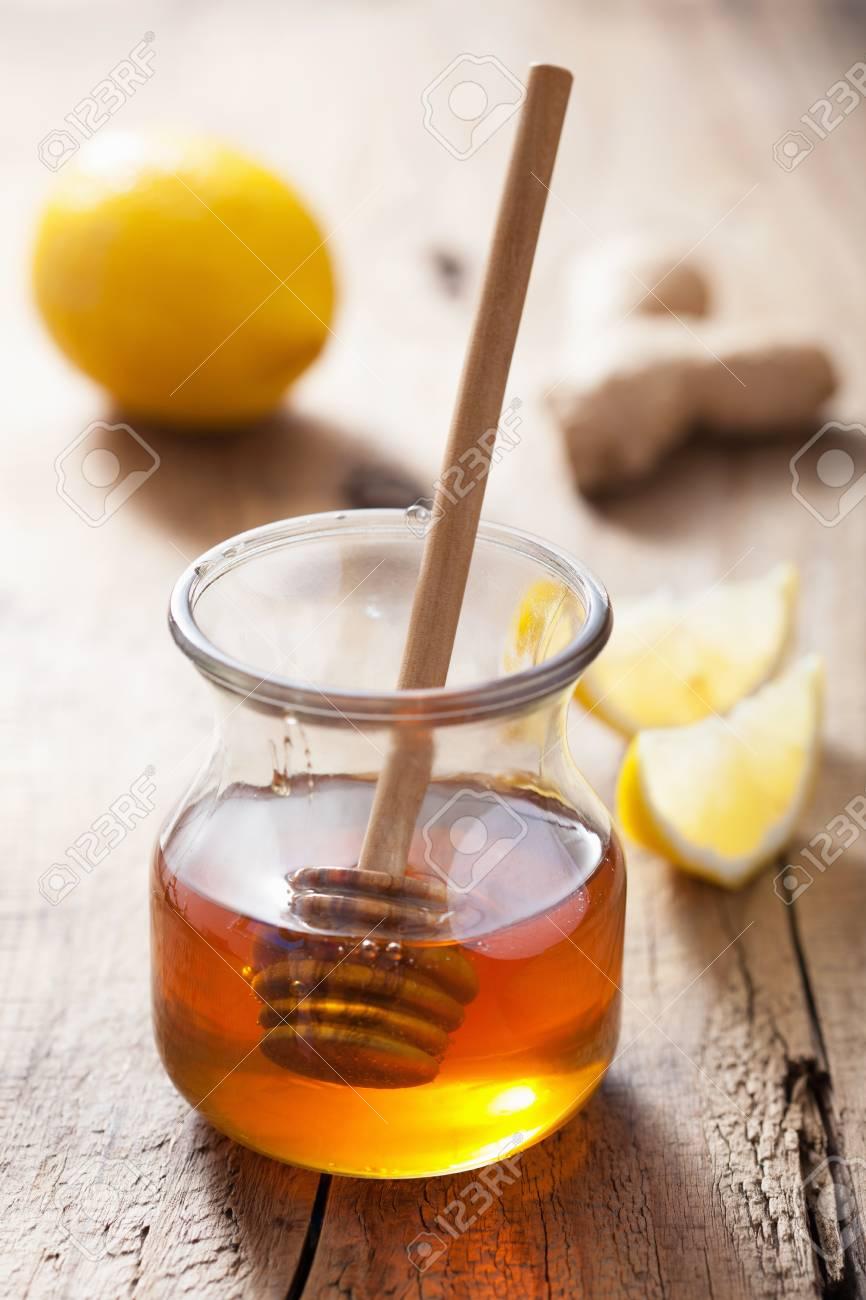honey lemon and ginger Stock Photo - 22915970