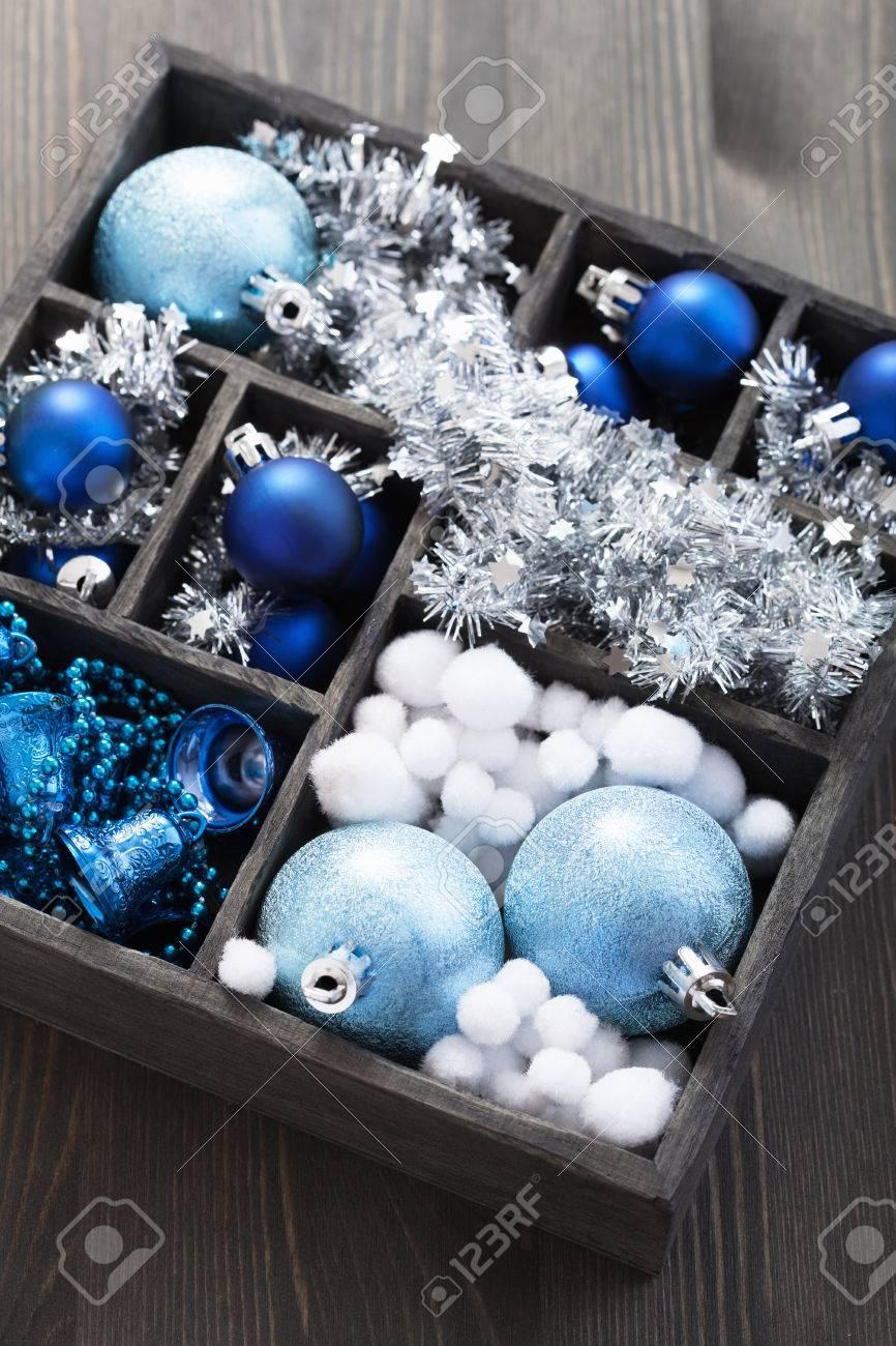 black box full of christmas decoration Stock Photo - 23167757