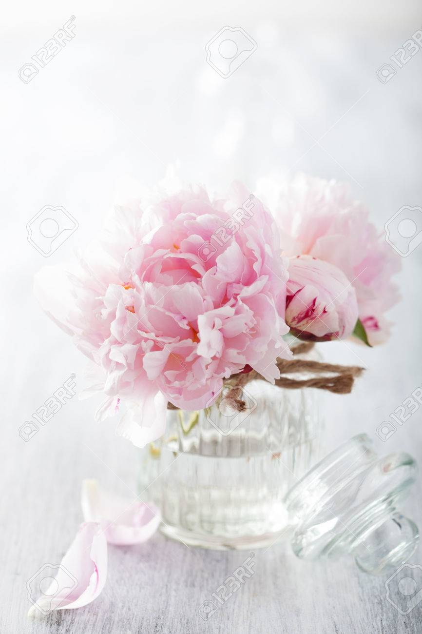 Beautiful pink peony flowers bouquet in vase stock photo picture beautiful pink peony flowers bouquet in vase stock photo 32509267 izmirmasajfo