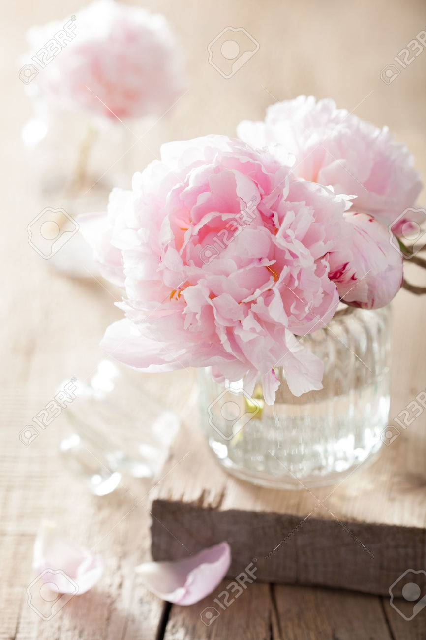 Beautiful pink peony flowers bouquet in vase stock photo picture beautiful pink peony flowers bouquet in vase stock photo 39330870 izmirmasajfo Images