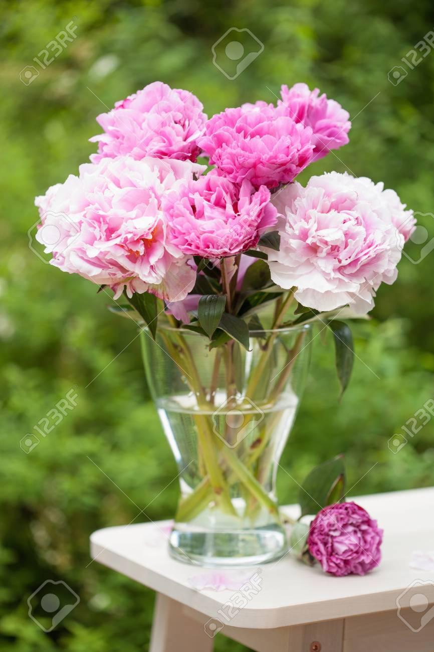 Beautiful pink peony flowers bouquet in garden stock photo picture beautiful pink peony flowers bouquet in garden stock photo 94247672 izmirmasajfo