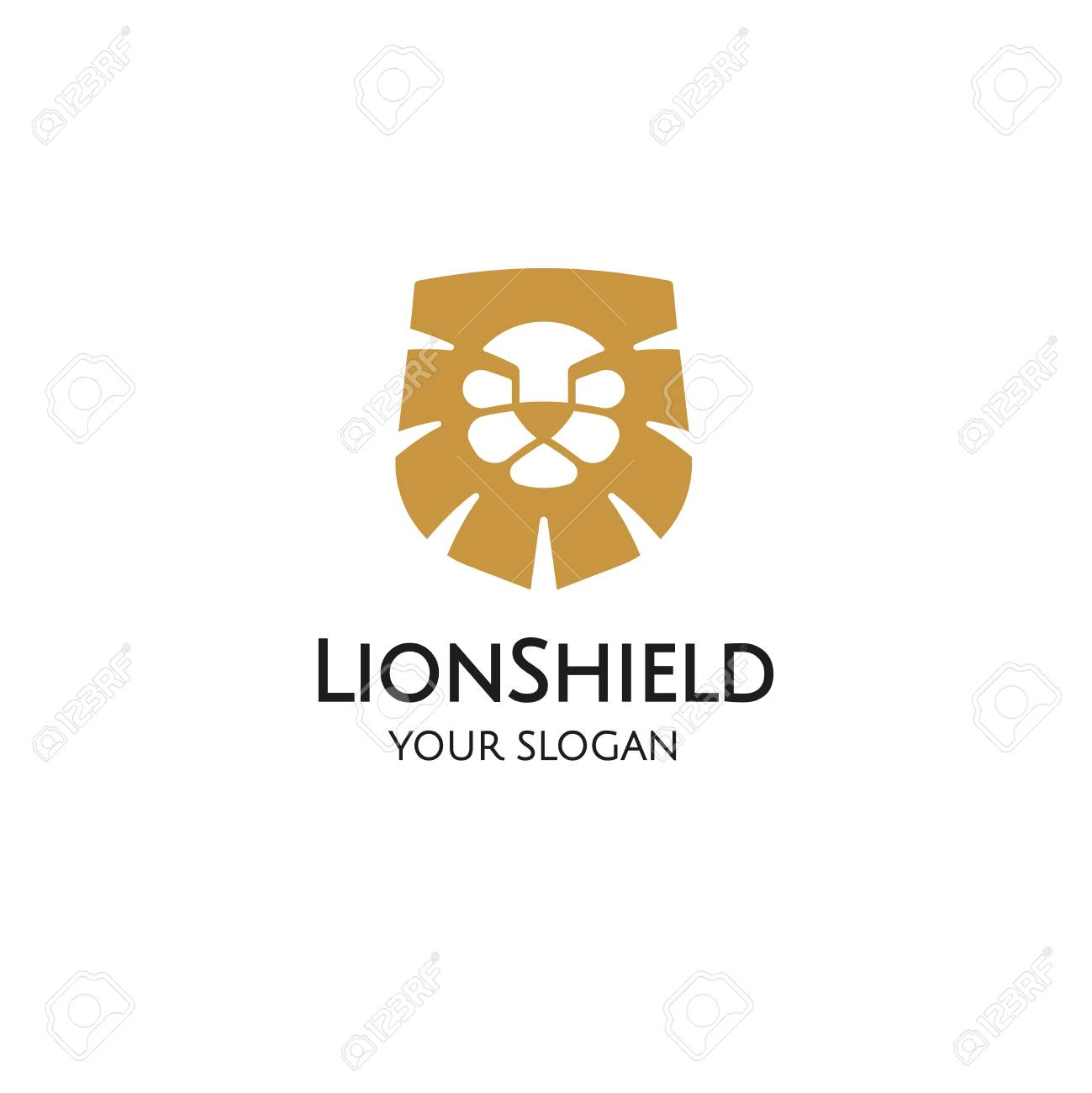 Lion Shield Design Template Royalty Free Cliparts, Vectors, And ...