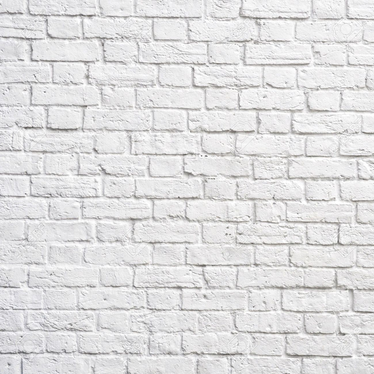 White brick wall, perfect as a background, square photograph Stock Photo - 9724881