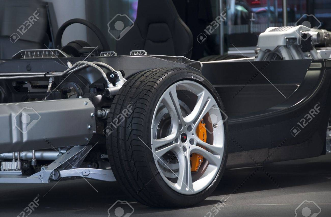 McLaren MP4-12C carbon and aluminum chassis Stock Photo - 11457970