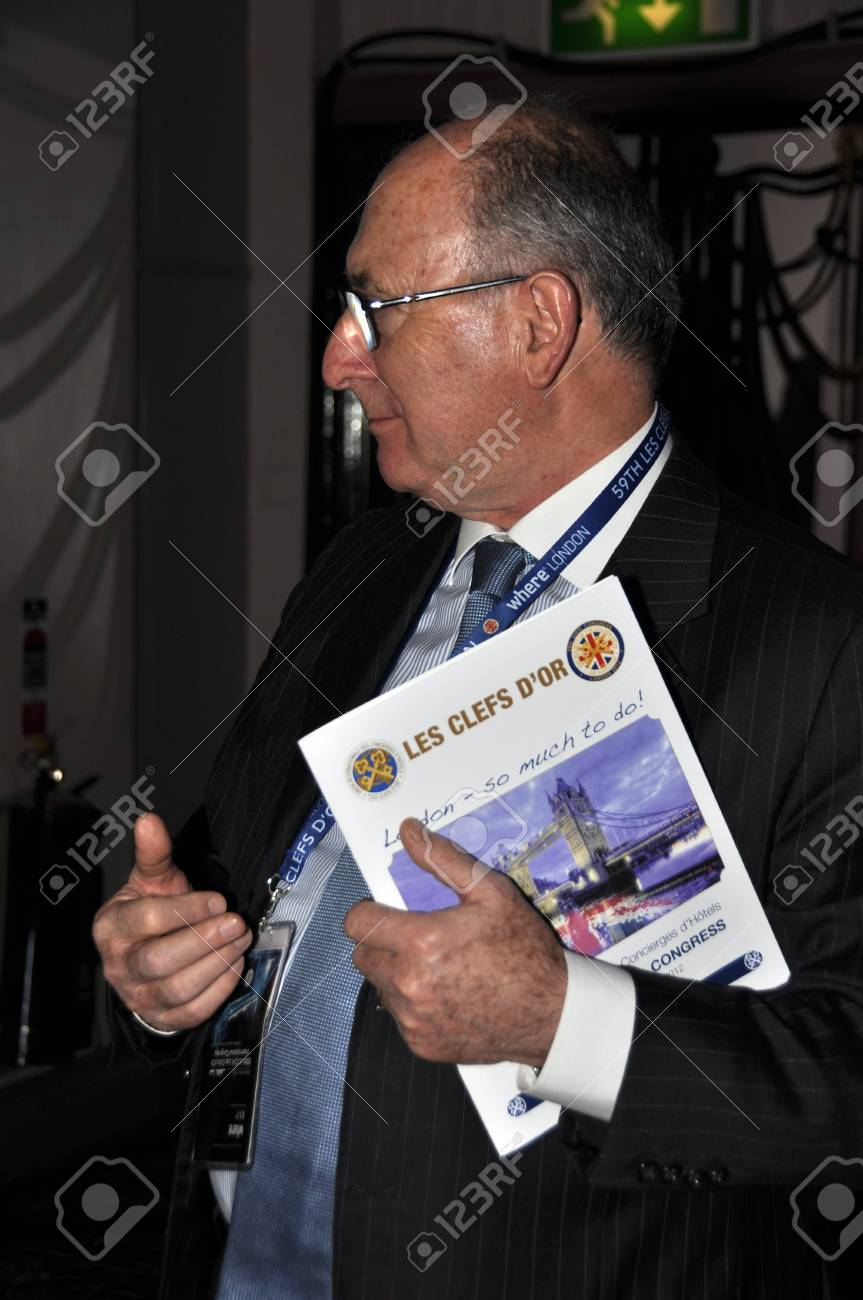 London - UK, January 30, 2012: Working meeting during the 59th UICH les Clefs d'Or International Congress at the Sheraton Park Lane on January 30, 2011 in London Stock Photo - 12257688