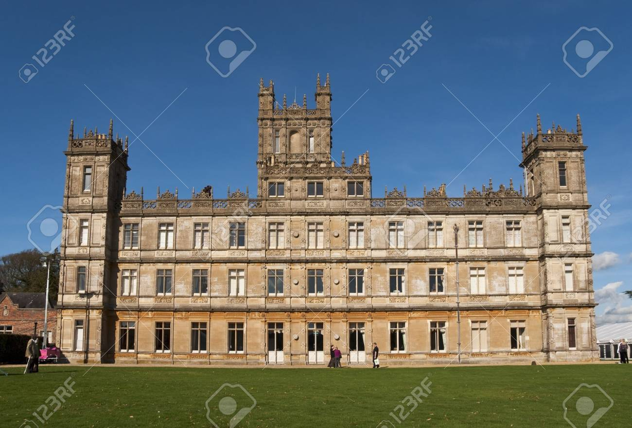 NEWBURY, UK - OCTOBER 13: Highclere Castle is the main setting for the ITV period drama Downton Abbey, on October 13, 2011 in Newbury Stock Photo - 12271759