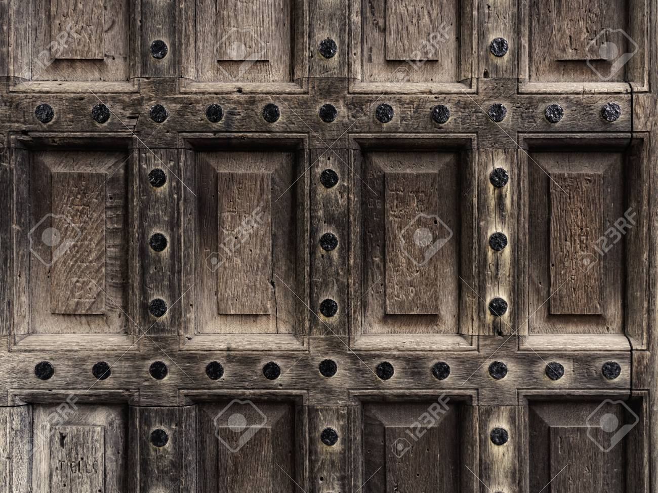 An antique wooden door closeup Stock Photo - 18090959 - An Antique Wooden Door Closeup Stock Photo, Picture And Royalty Free