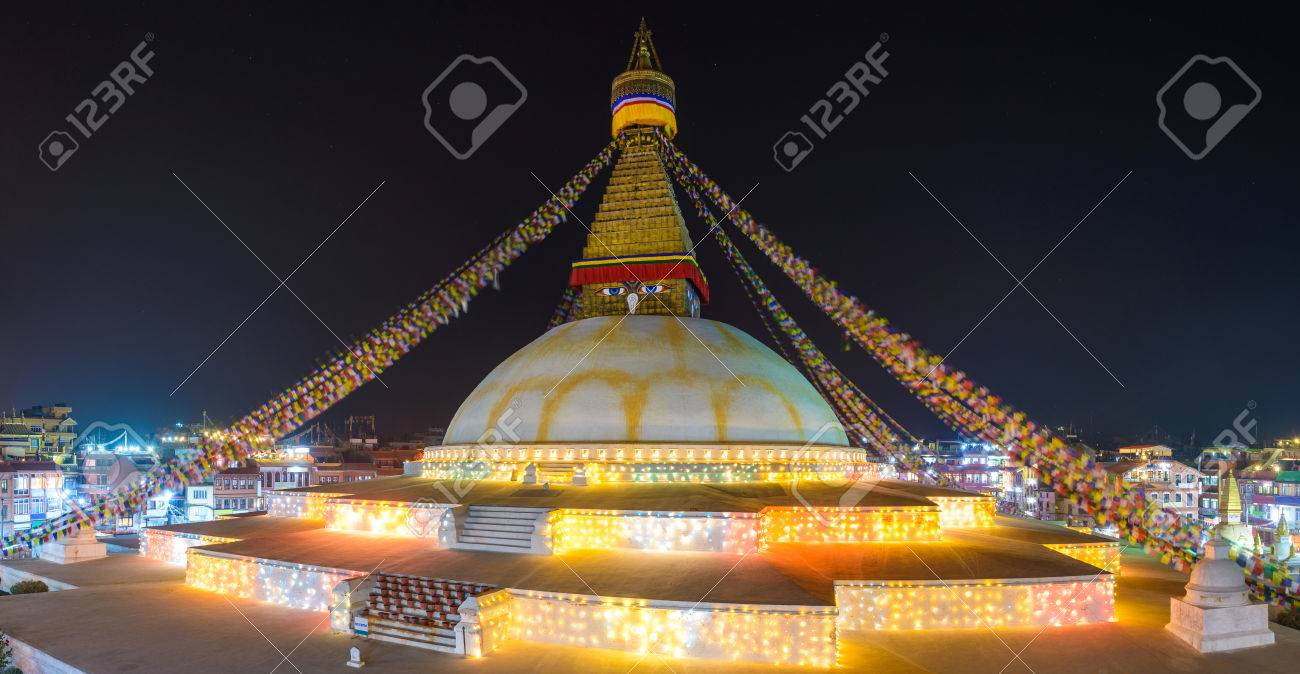 Boudhanath At Night