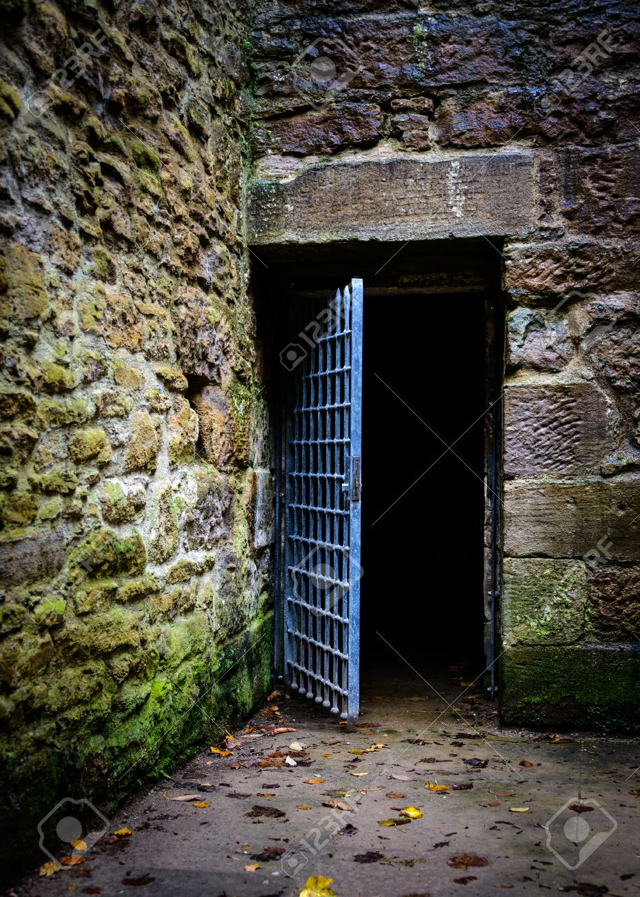Opened prison door in an old castle Stock Photo - 28916946 & Opened Prison Door In An Old Castle Stock Photo Picture And ... Pezcame.Com