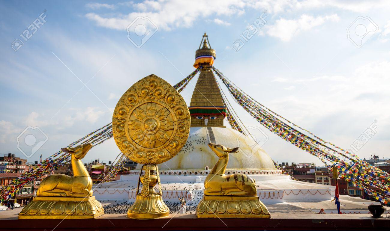 boudhanath stupa in kathmandu, nepal stock photo, picture and