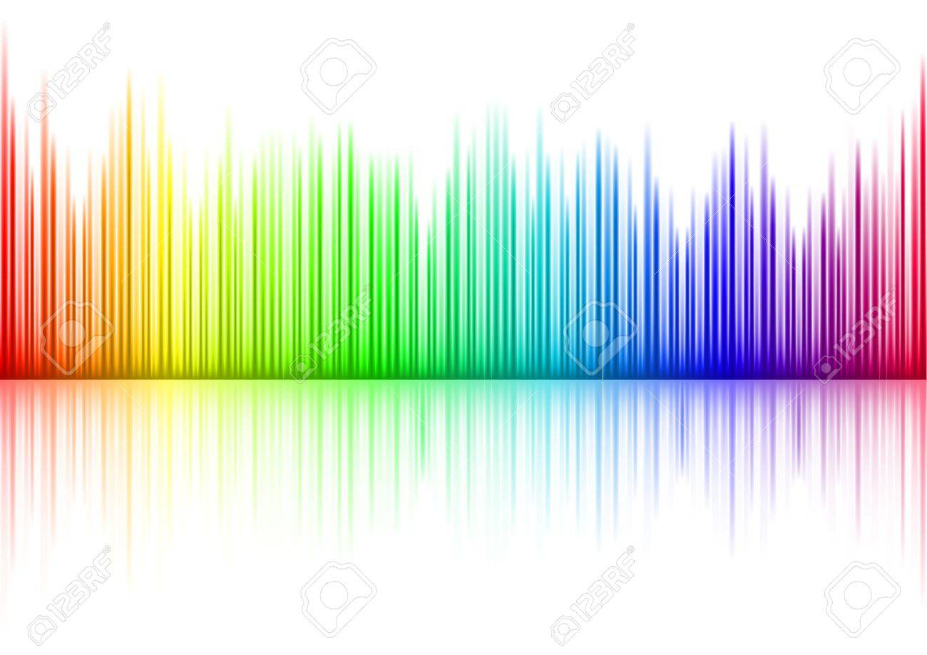Colorful Sound waveform on white Stock Vector - 7780760