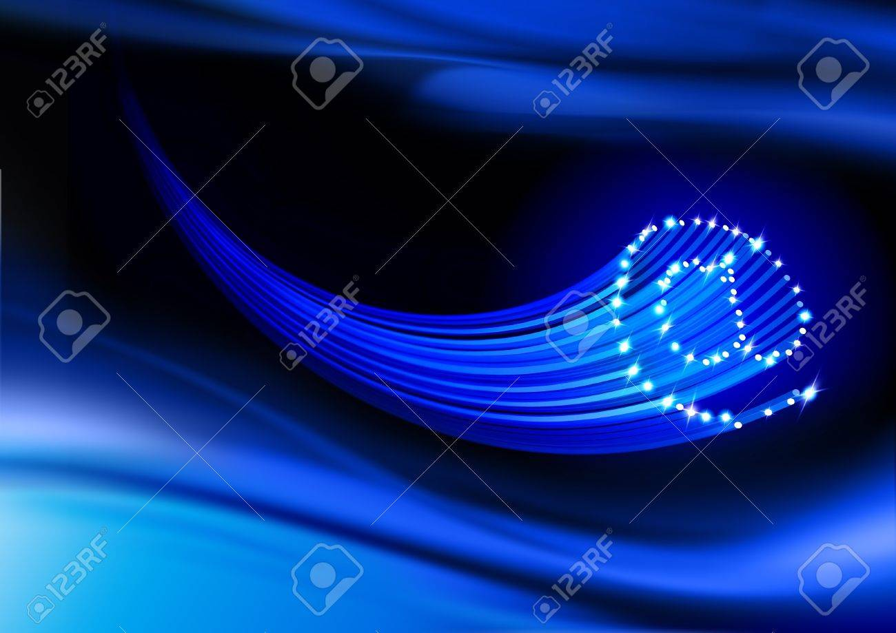 Email Symbol On A Dark Blue Background Stock Photo, Picture And ...