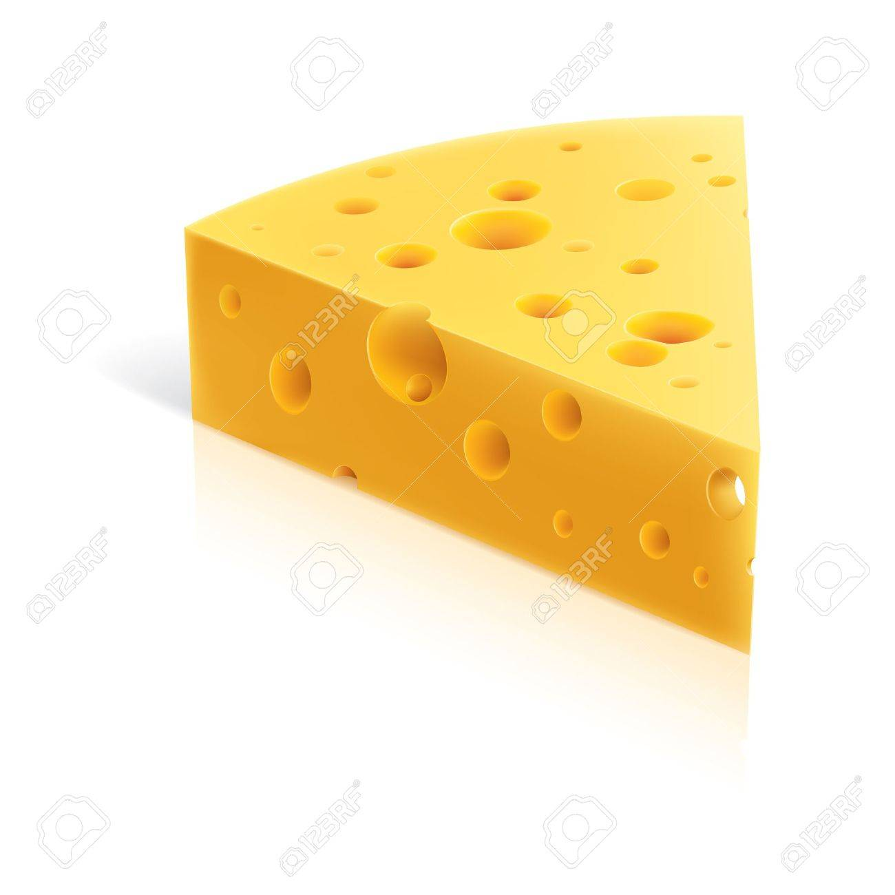 Illustration Of A Piece Of Cheese. Isolated On White Background Royalty  Free Cliparts, Vectors, And Stock Illustration. Image 8251039.