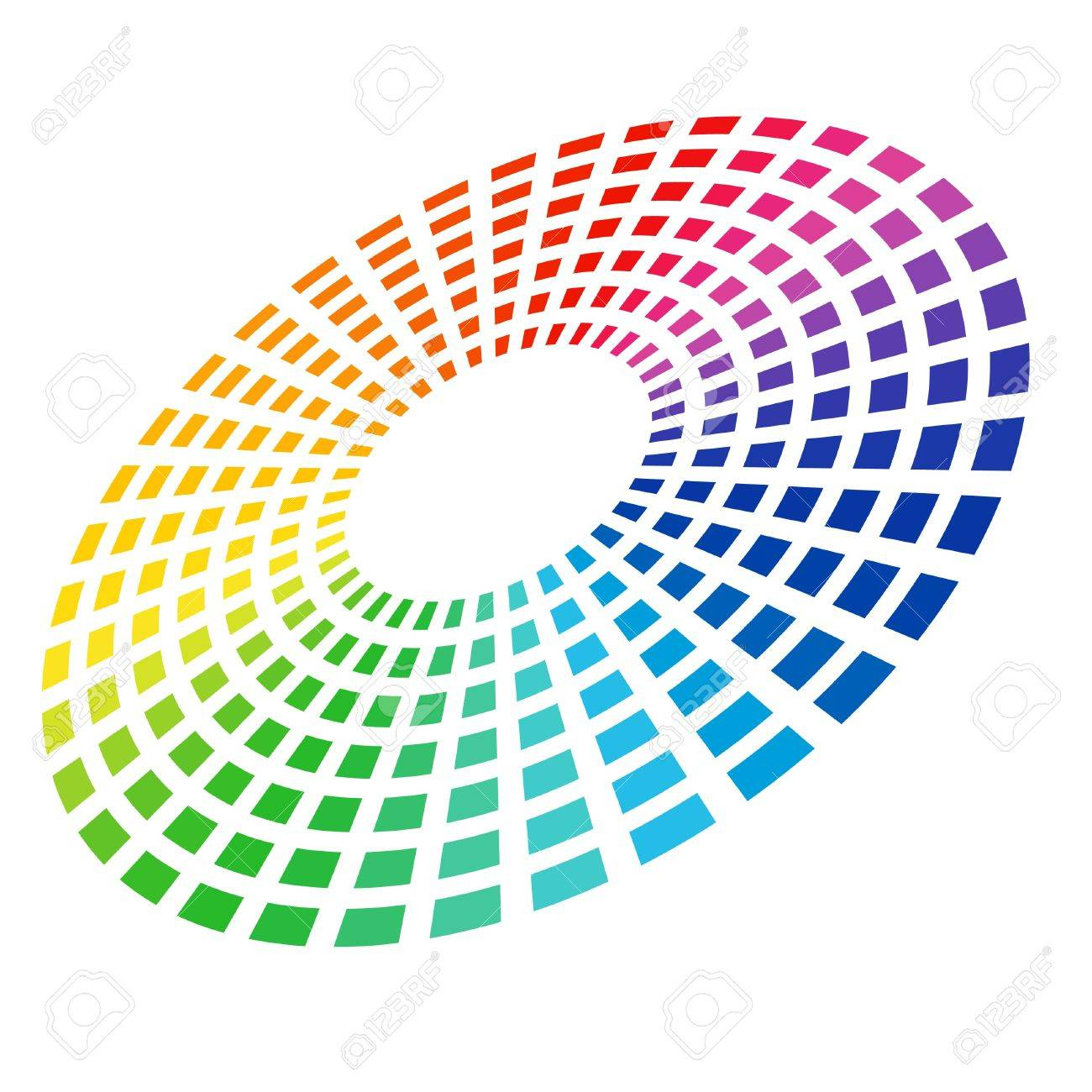 Colorful Graphic Equalizer. Circle in space. illustration on white. Stock Vector - 8711644