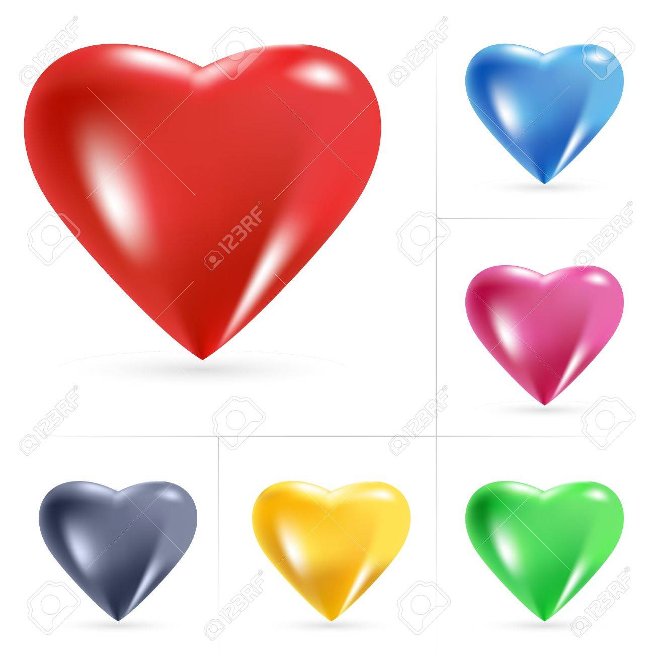 Heart Icons. Vector illustration on white background - 8925218