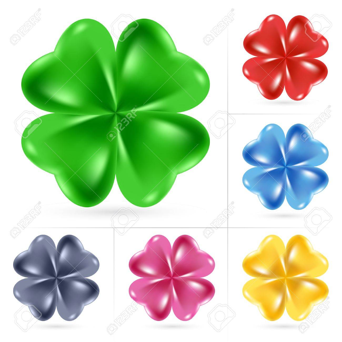Set of Irish shamrock for St Patrick's Day Stock Vector - 8925221
