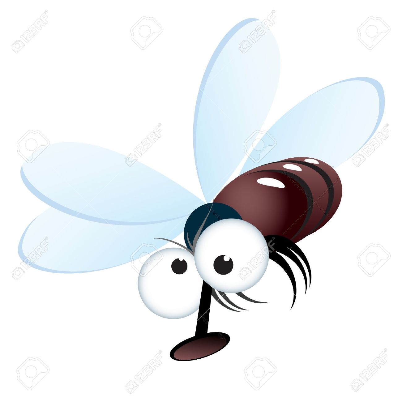 Cartoon style illustration of a fly. Vector illustration on white Stock Vector - 9081124