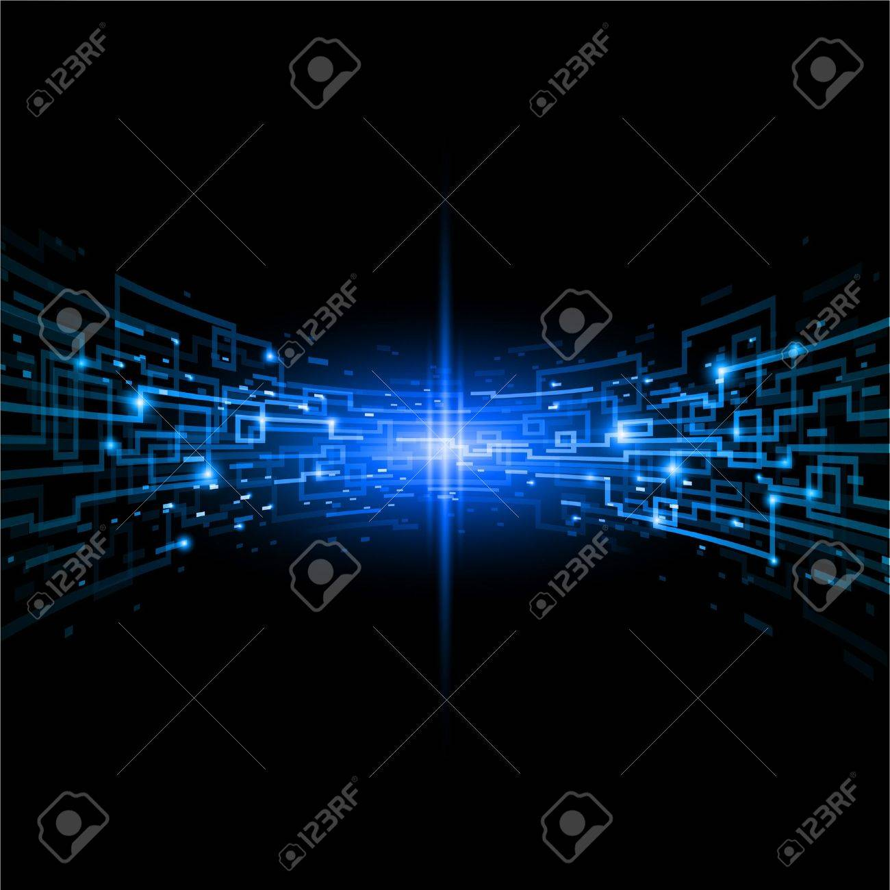 Internet concept, communication, technology-style background. Illustration for design Stock Vector - 9371971