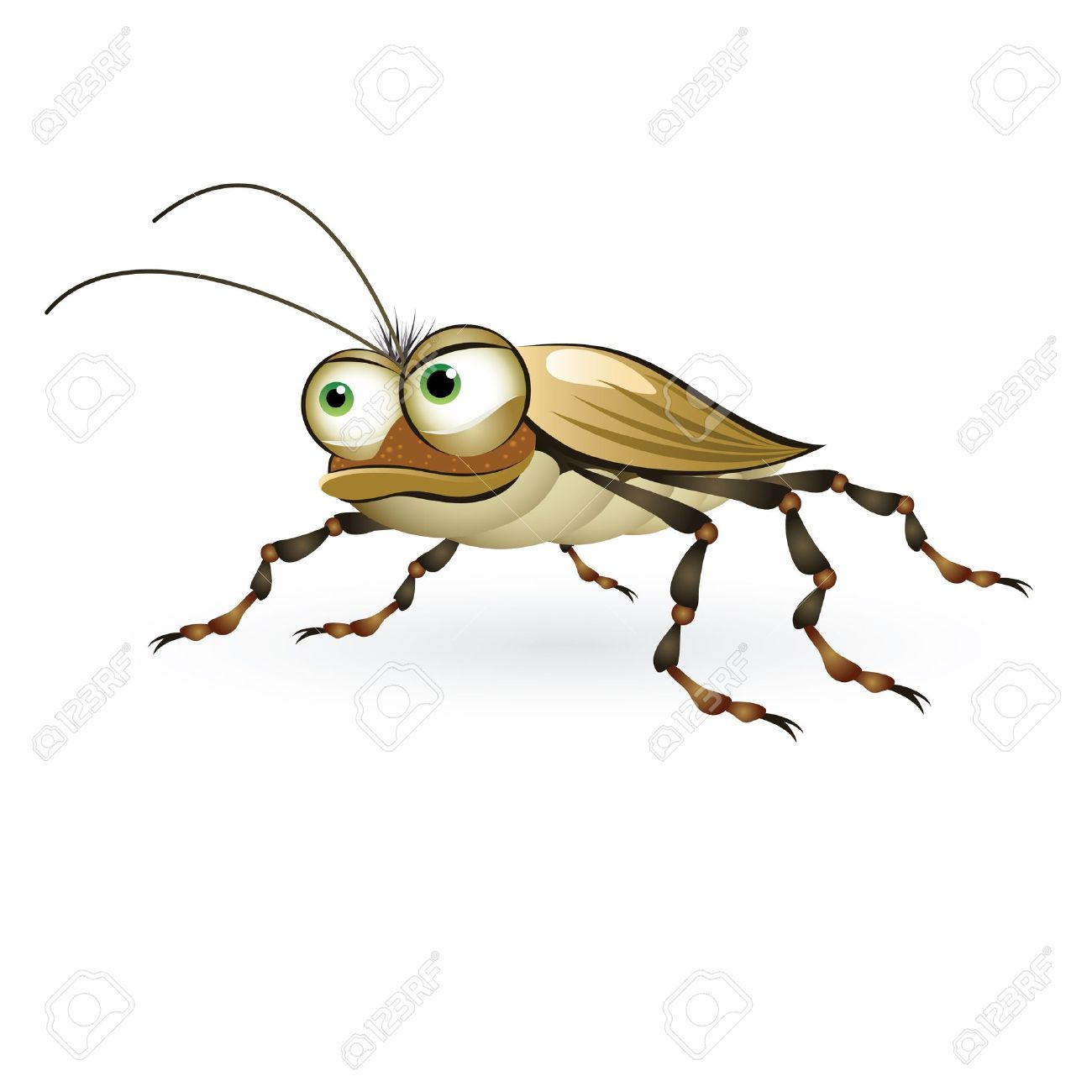 Cartoon beetle with a mysterious look. Illustration on white background Stock Vector - 9455263