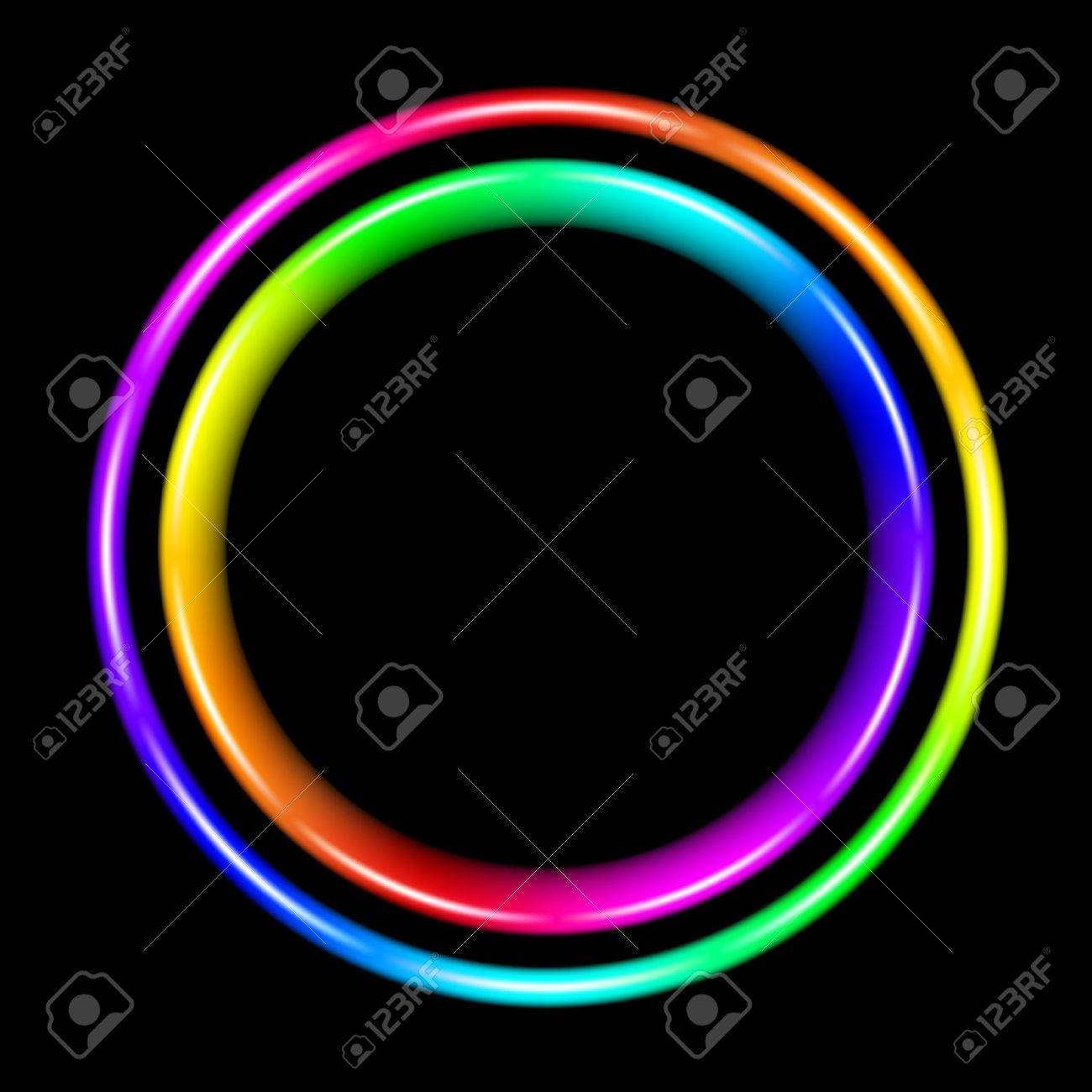 Multicolor spectral circle. Illustration on black background Stock Vector - 9546476