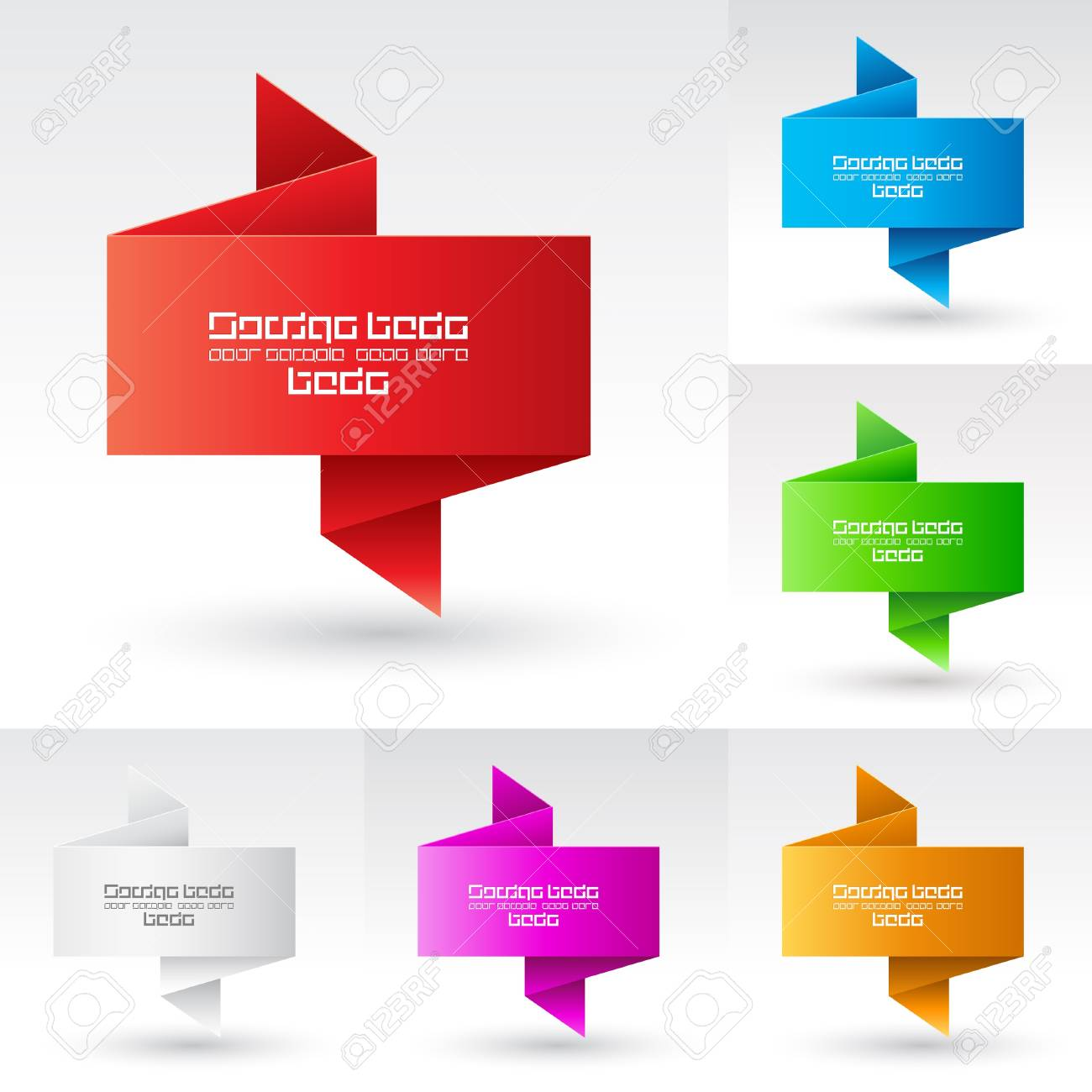 Banners set. Illustration on white background for design Stock Vector - 9546471