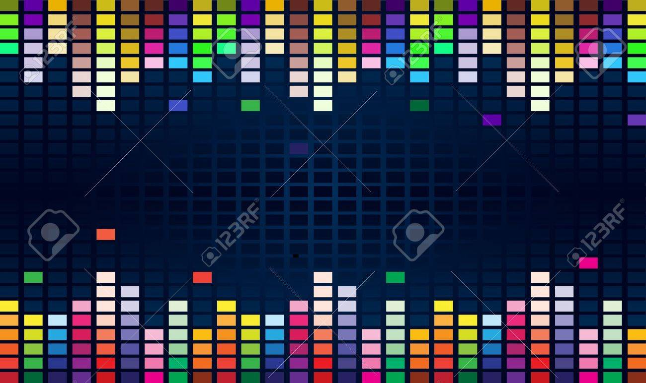 colorful graphic equalizer display for title page design royalty colorful graphic equalizer display for title page design stock vector 9892312