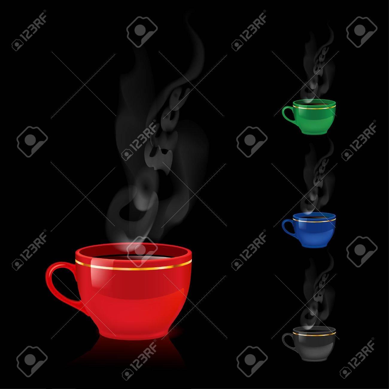 Color coffee mugs. Stock Vector - 9892470