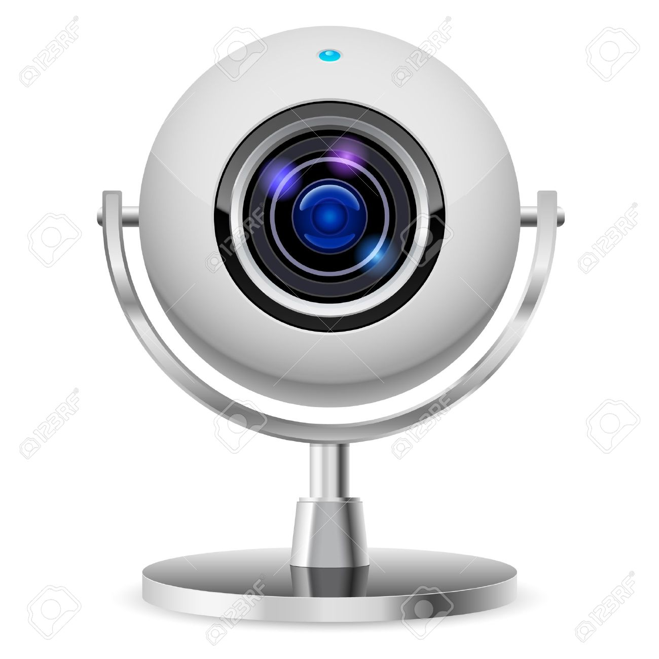 Realistic Computer Web Cam. Illustration On White Background ...
