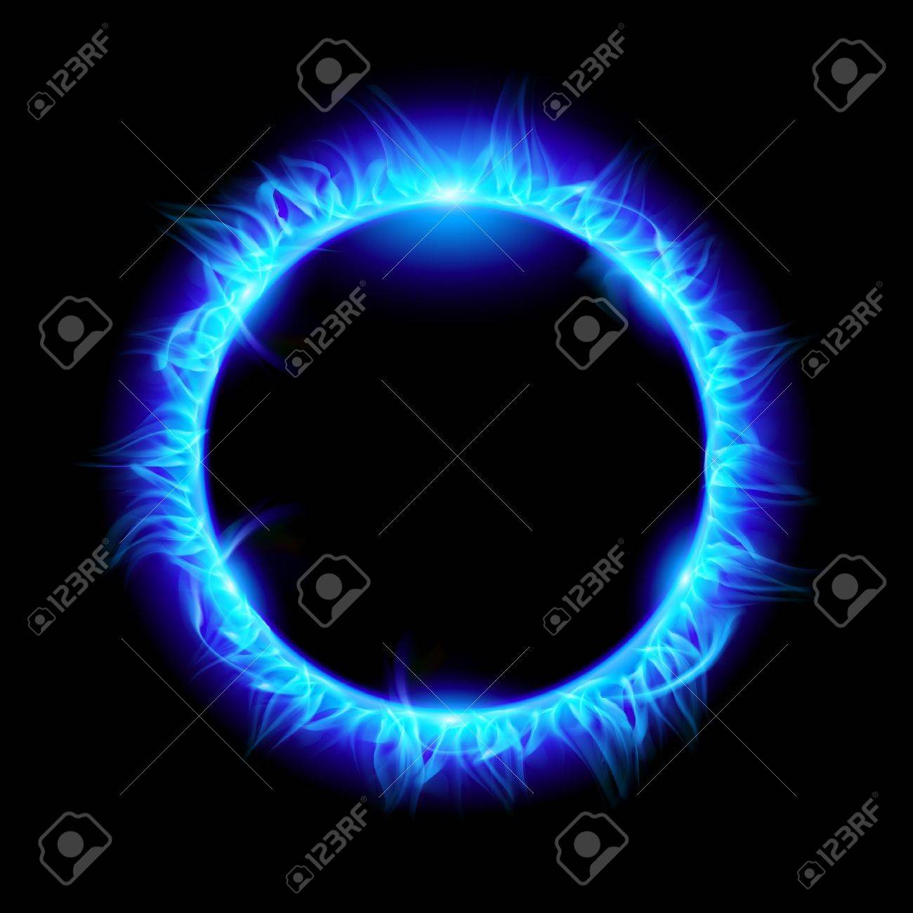 Blue Solar eclipse. Illustration on black background for design Stock Vector - 10083100