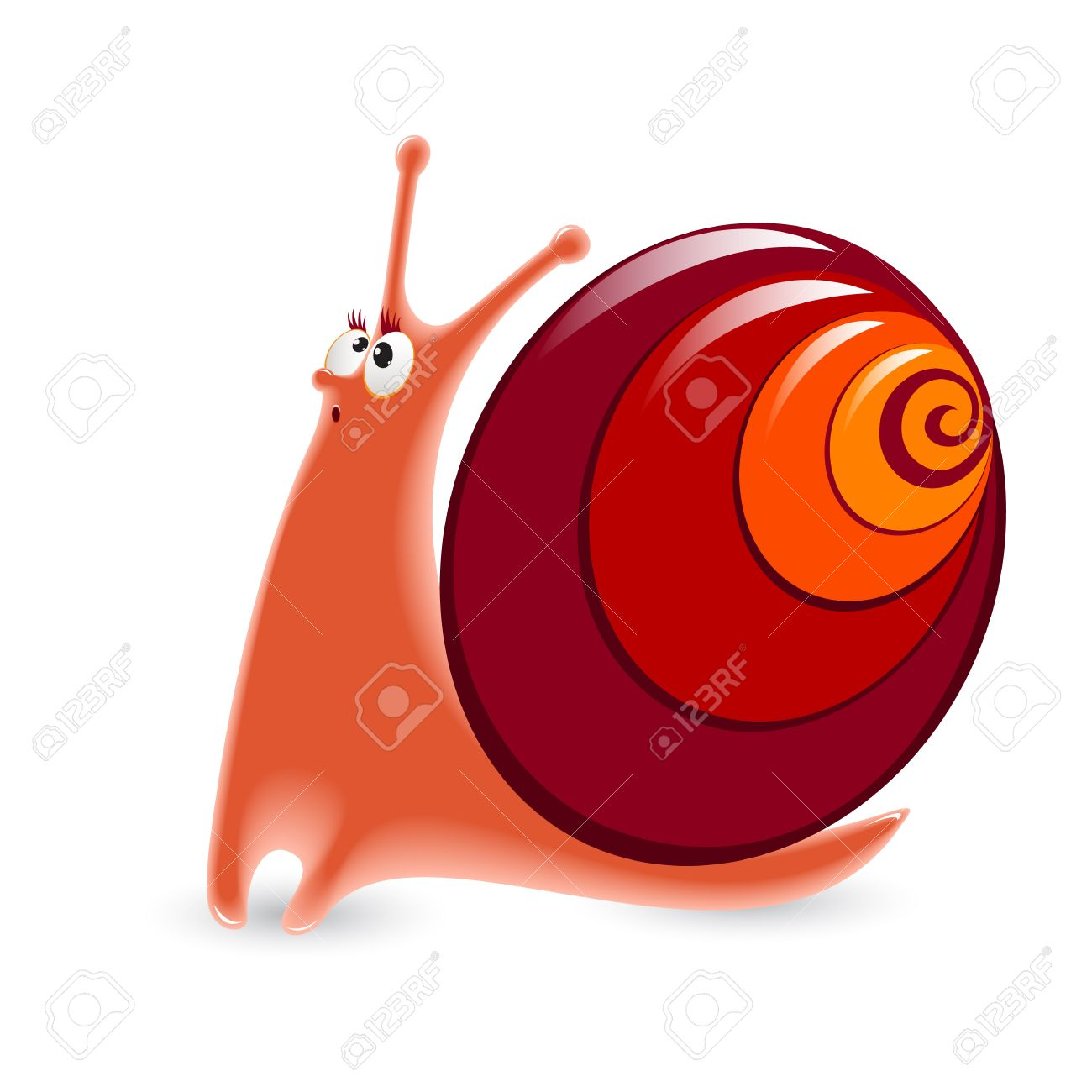 Cartoon Snail. Illustration isolated on white background. Stock Vector - 10774568