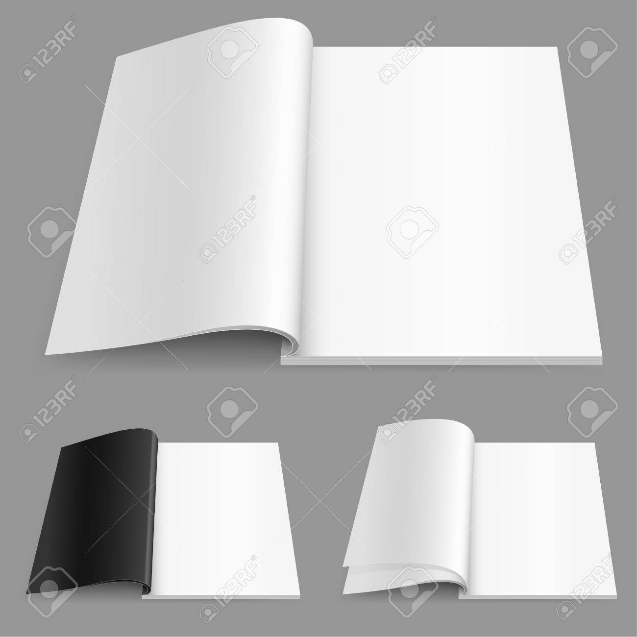 Realistic magazine set number two. Illustration on white background for design. Stock Vector - 10866201