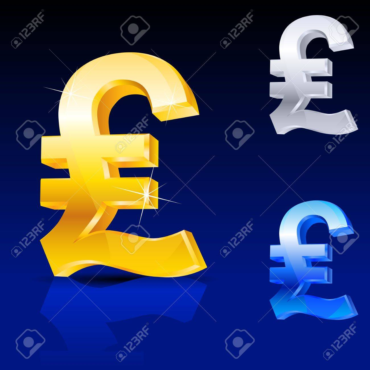 Abstract pound sign. Illustration on blue background for design Stock Photo - 11350955