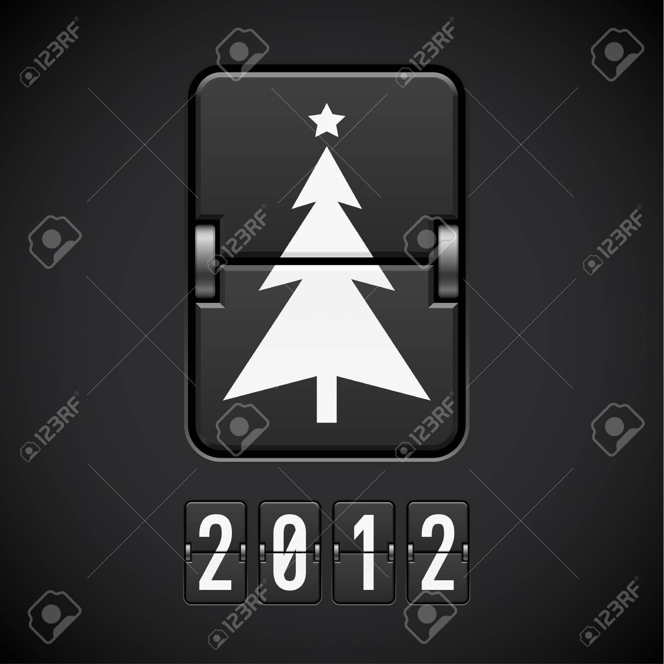 Scoreboard Christmas Tree. Illustration of the designer Stock Vector - 11351225