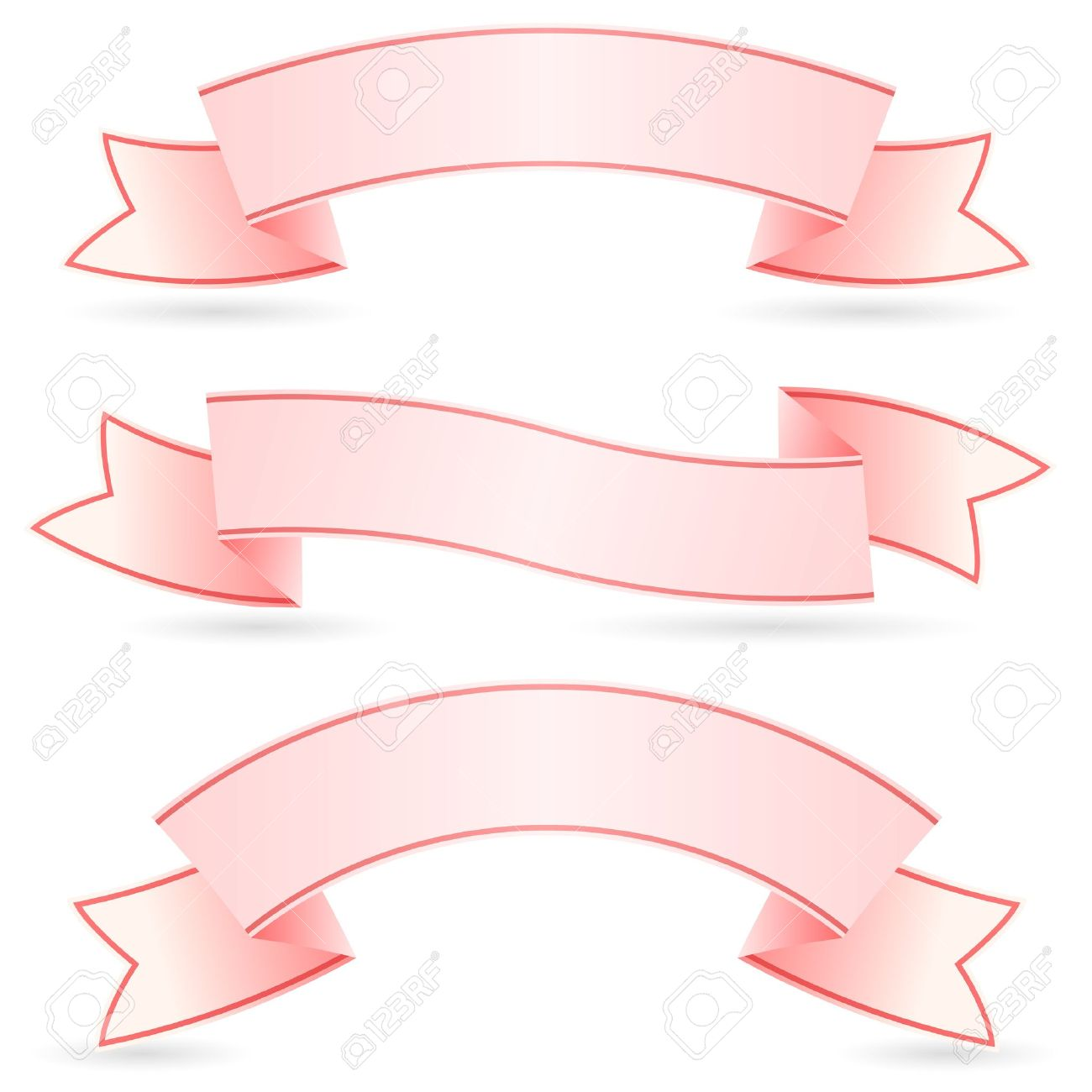 Set of Pink Banners. Illustration on white background for design Stock Vector - 12349621