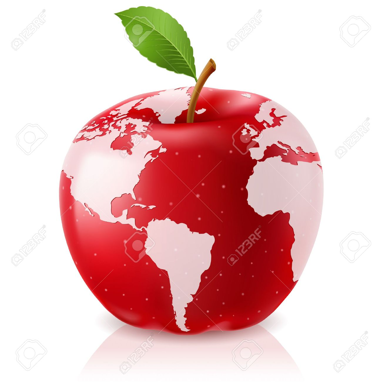 Vector red apple world map on white background royalty free cliparts vector vector red apple world map on white background gumiabroncs Gallery