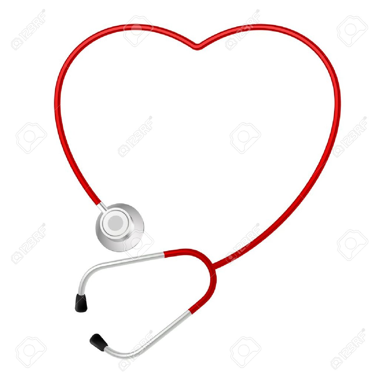 Stethoscope Heart Symbol. Illustration on white background Stock Vector - 12490963