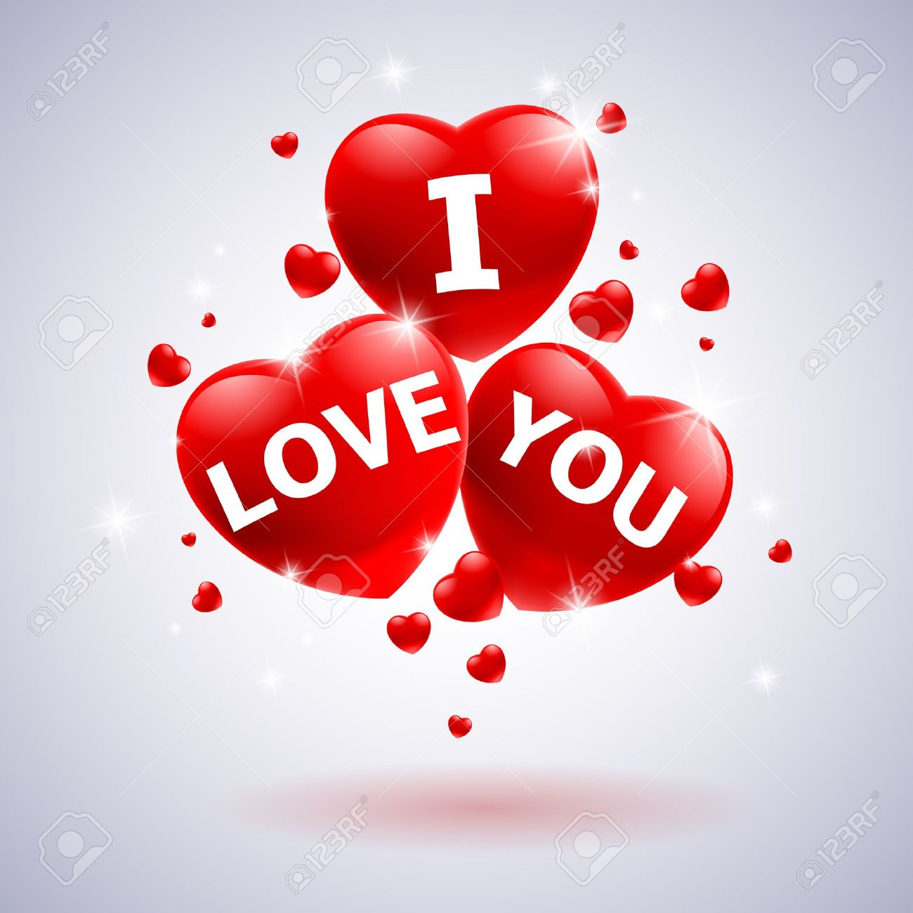 I love you with heart. Illustration for wedding design Stock Vector - 12491014