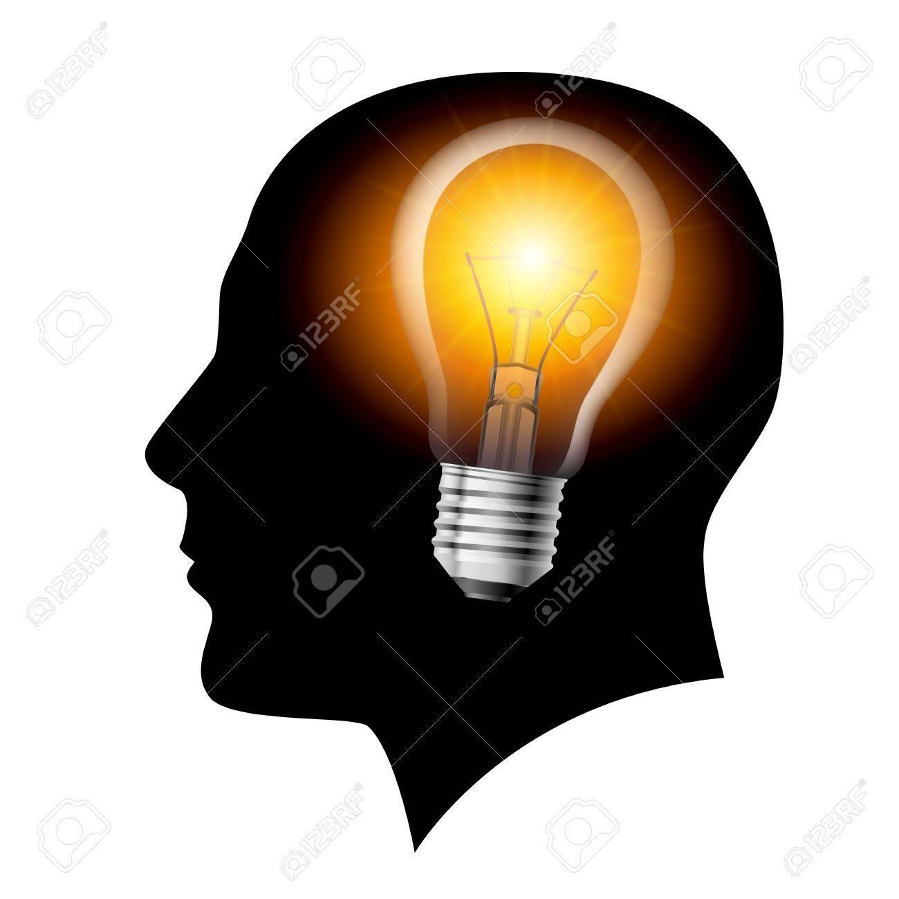 Creative ideas light Filament Lamp. Illustration on white Stock Vector - 12676346