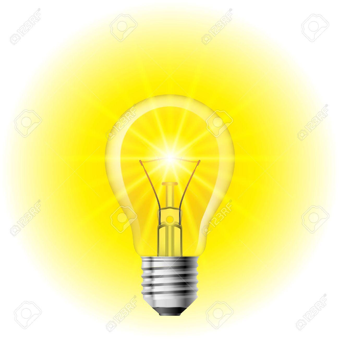 Light  Filament lamp on a white background. Illustration for design Stock Vector - 12676347