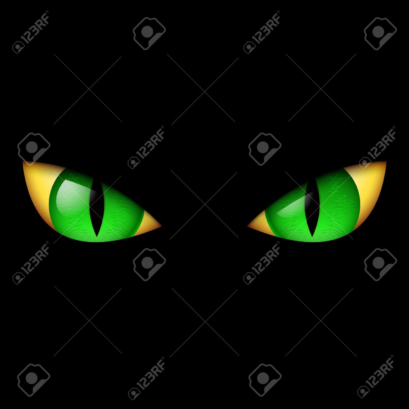 Scary Face Clipart Scary Face Evil Green Eye