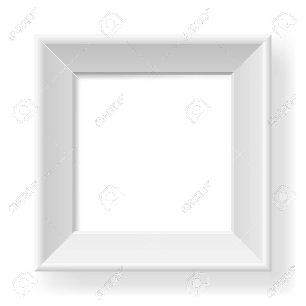 Realistic white frame. Form of the number one. Illustration on white background Stock Vector - 13873561