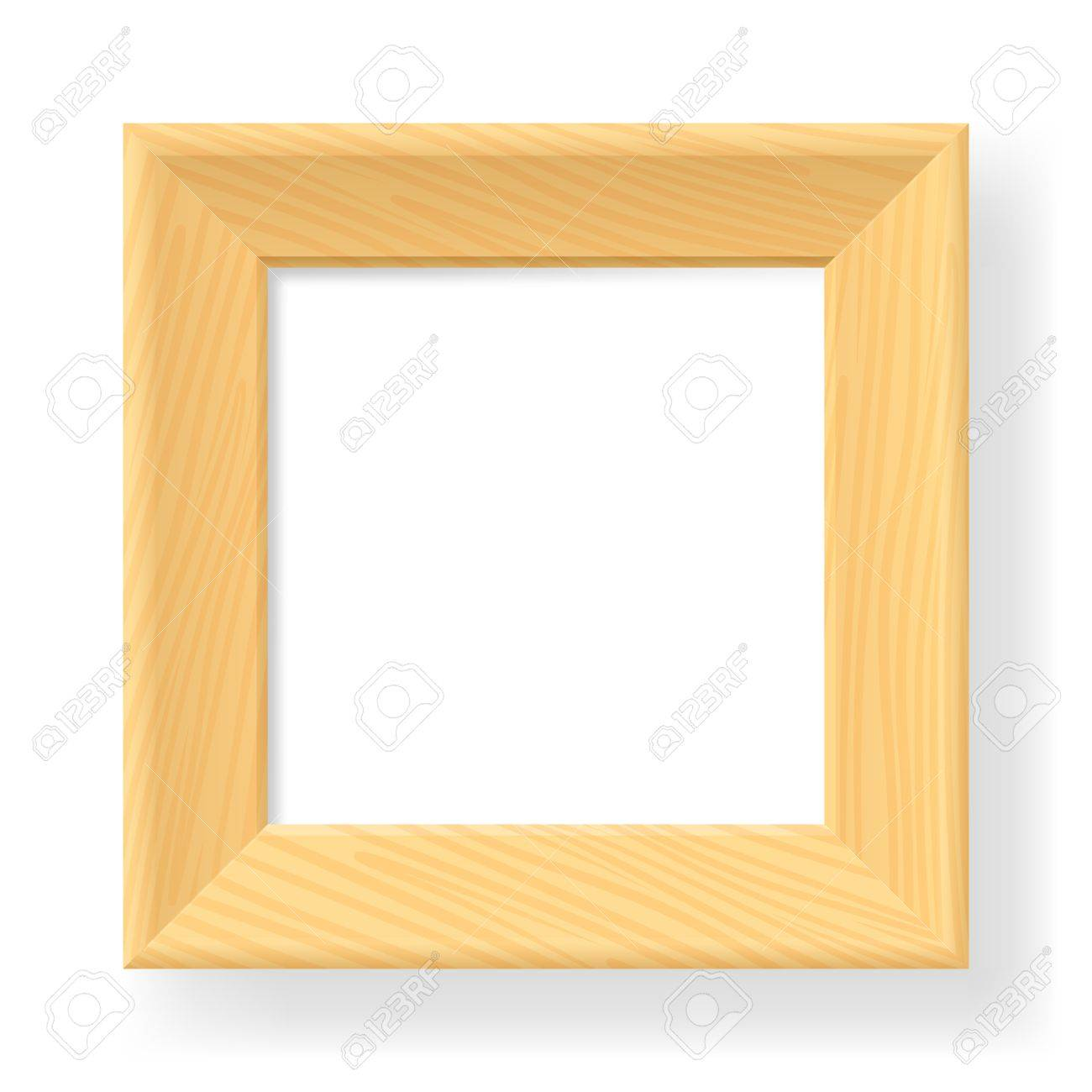 Realistic wooden frame. The form number one.  Illustration on white background Stock Vector - 13958768