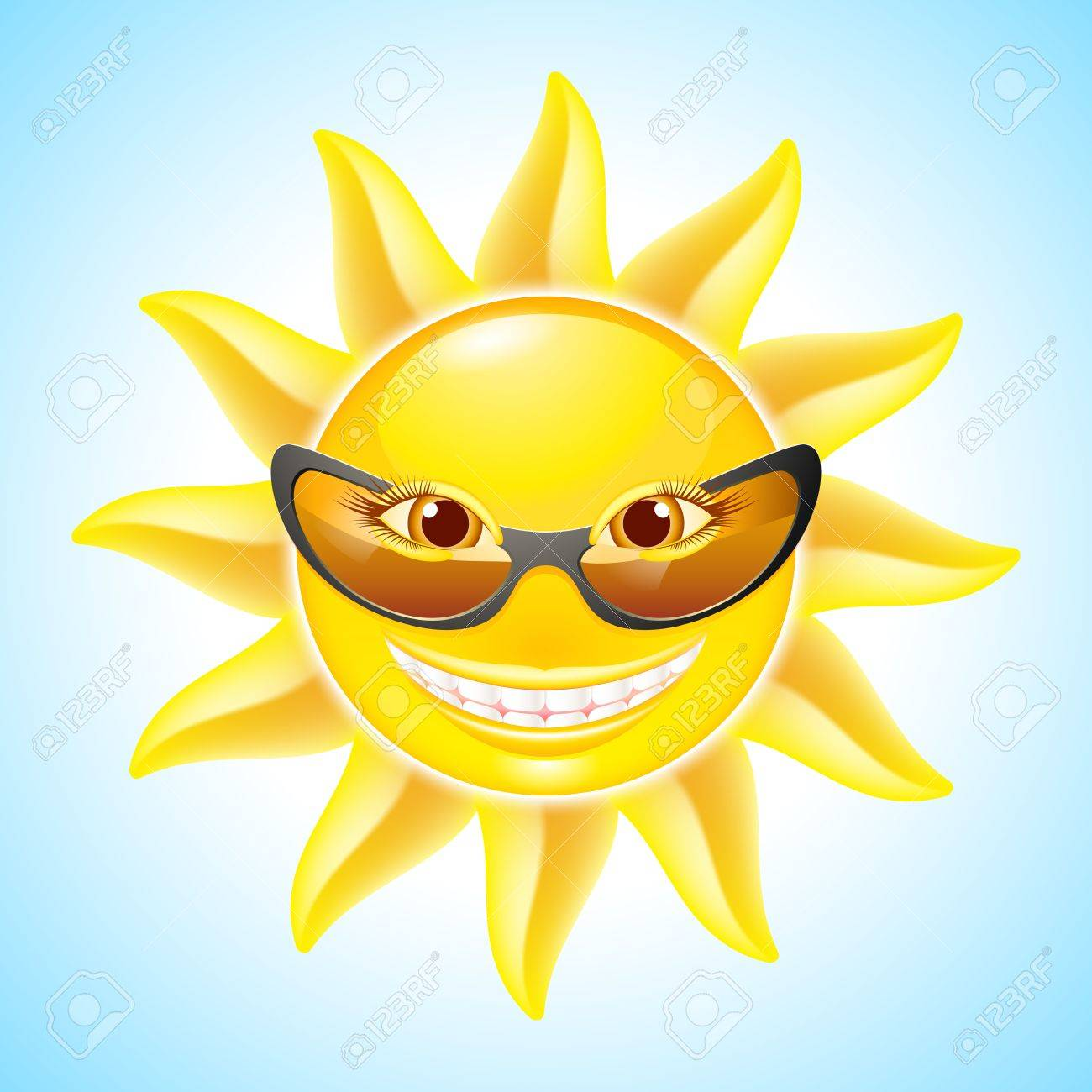 Smiling sun with sunglasses - Cartoon Smiling Sun With Sunglasses See Other Images In My Portfolio Stock Vector 13979489