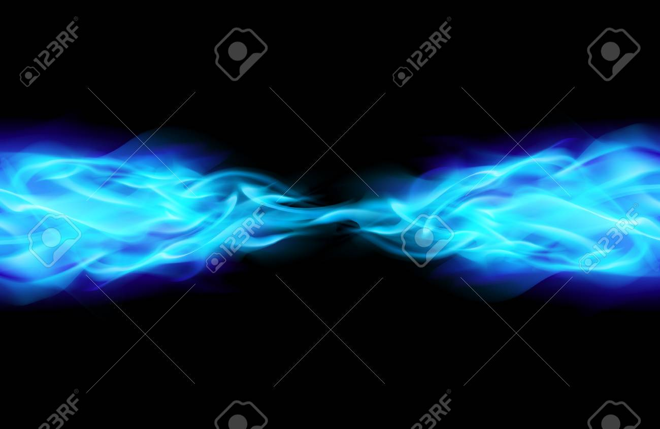 Blue Flame in Space. Illustration on Black Stock Vector - 13979500