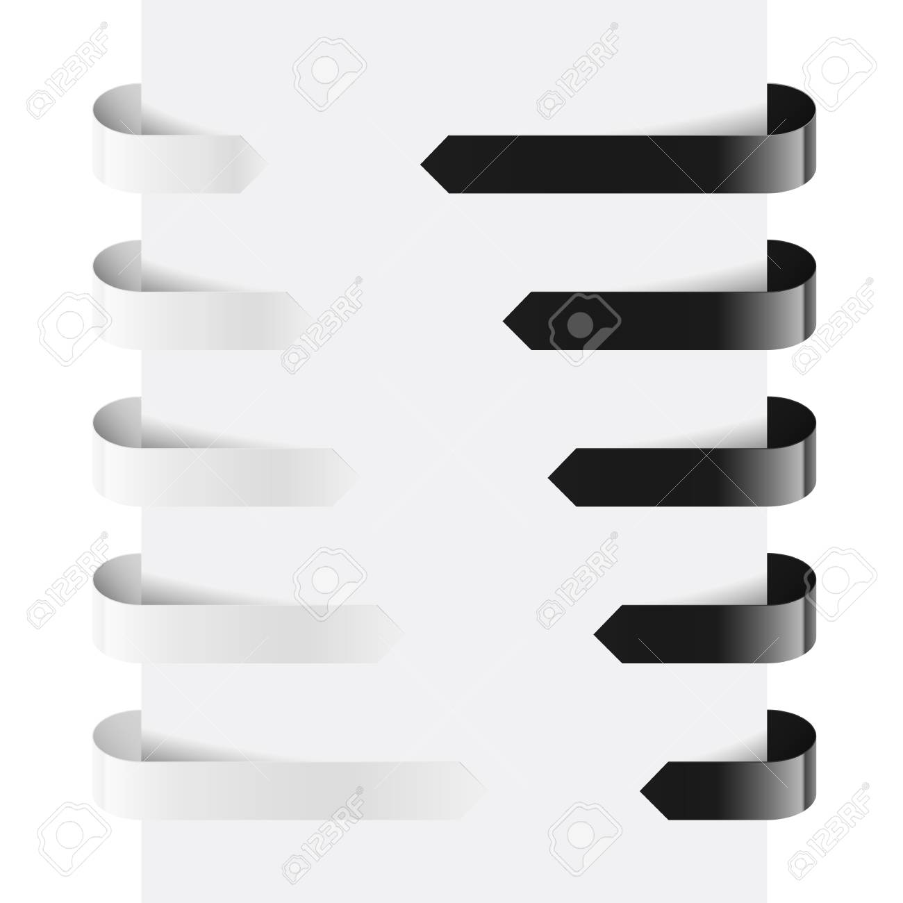 Black and White Web Arrows. Illustration on white background Stock Vector - 14331334